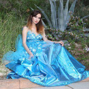 TAMILA Custom Order Turquoise Wedding Ballgown Set